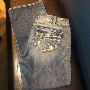 Silver Jeans denim 32 x 30 blue jeans Suki Surplus
